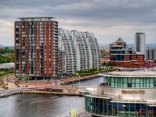 Salford, City Lofts and NV Buildings, Salford Quays, Lancashire © David Dixon